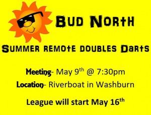 Bud North Dart Meeting